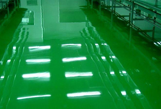 sơn sàn epoxy chống axit 3